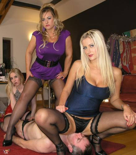 Lady Nina Birch, Miss Eve Harper, Mistress Nikki – The Girls Office Xmas Party  (2015/English Mansion/HD/810p)